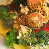 お任せ花束、または花選びチャートからご依頼ください